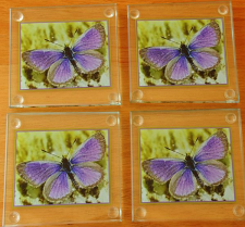 90 mm Glass Coasters set of 4