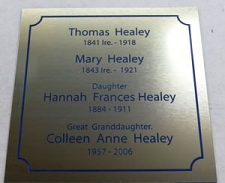 "200 mm ( 8"" )  by 10 - 200 mm name plate"