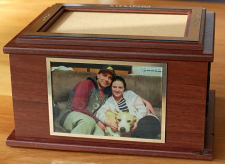 Jarrah pet urn cremation box large