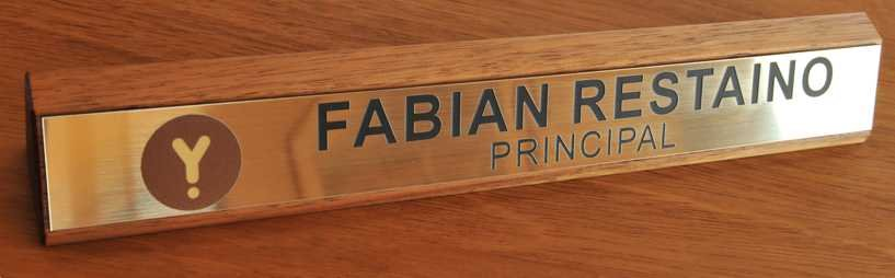 Thumb_Desk name plate silky oak printed logo engraved brush gold plate