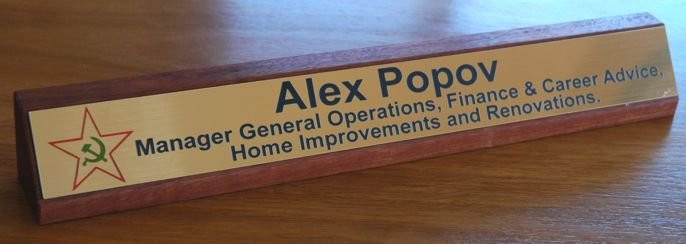 Thumb_red gum desk name plate colour logo antique gold black engraving