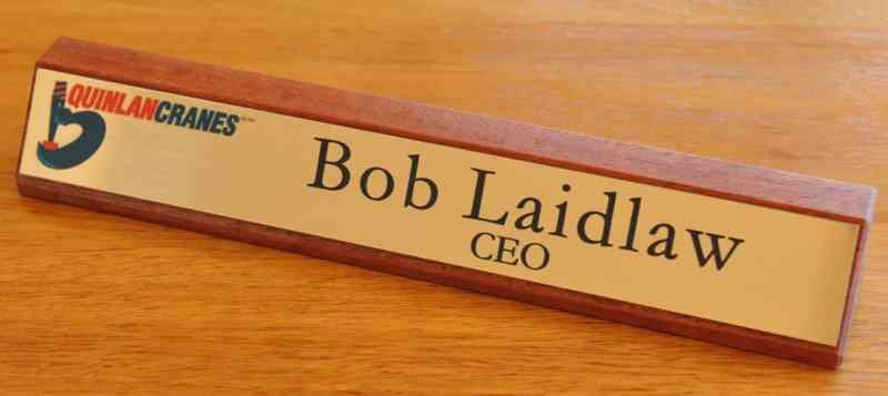 Thumb_Red gum desk name plate brush gold colour logo black engraving