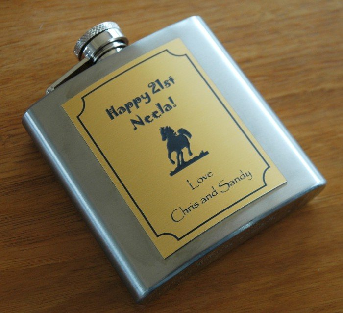 Thumb_Hip Flask Gold Plate