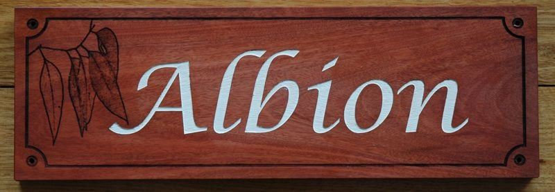 Thumb_engraved house name sign Red gum Silver fill