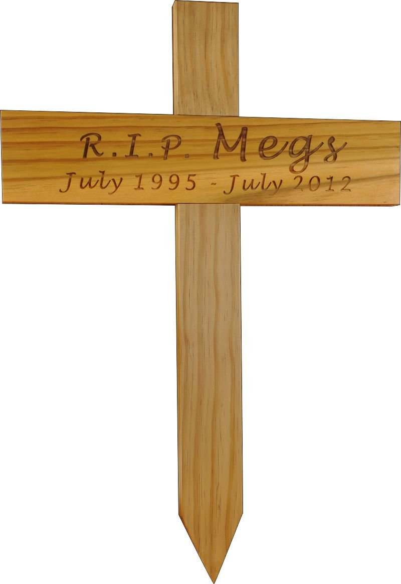 Thumb_Treated pine memorial cross