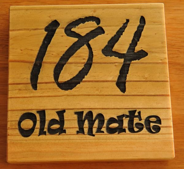 Thumb_Treated Pine black fill number sign