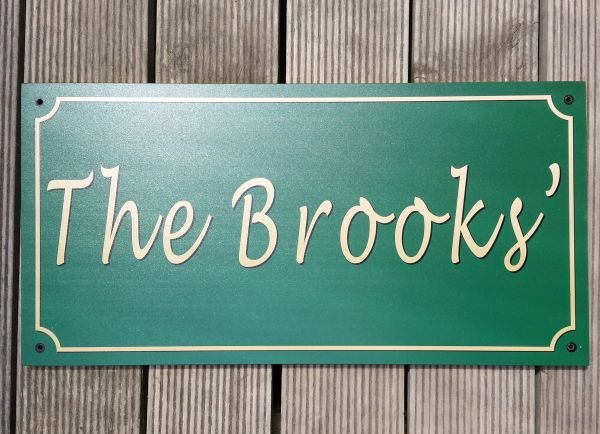 "Weathertex Sign 200 mm (8"")  by length chosen"
