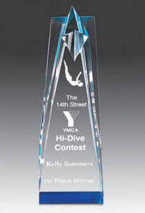 Star Tower Award - Mirror - Large 87x50x250 mm
