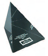 Wedge - Black Base 75x75x75 mm