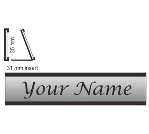 Desk Sign Aluminium Length X 60 mm