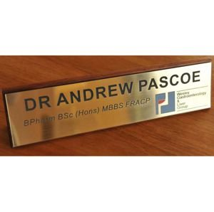 Desk Name Plate Timber EXECUTIVE