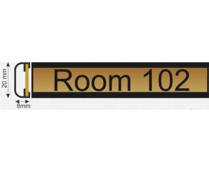 "Slide Mount Sign Length 100 X 25 mm ( 4"" x 1"" )"