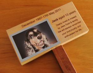 Timber Engraved Memorial Marker