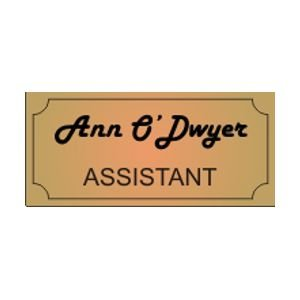 """Personal Engraved Name Tag 30 mm high (1.2"""") by chosen length"""