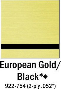 European Gold Black Engraving