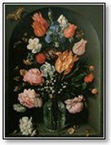 Art Colourfull roses in glass vase 05