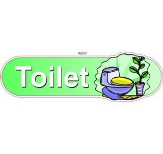 Toilet ID sign