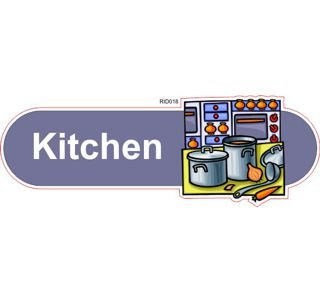 Kitchen ID sign