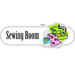 Sewing room ID sign