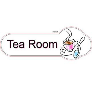 Tea Room ID sign