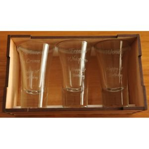Shot Glass three in Box