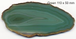 Green Agate 2A polished stone