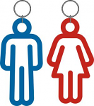 RestRoom Toilet Key tag SHAPES PAIR