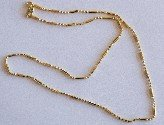 Bamboo Necklace Gold 400 mm