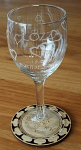 Wine Glass Engraved set 6