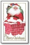 Christmas Cards santa on chimney 011