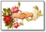 Floral wrist wreath pair hands 026