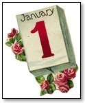 New Year Calender with roses 1 January 004