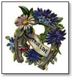 Valentine Wreath in blue and purple flowers 034