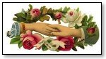 Valentine pair holding hands floral 035