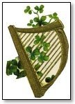 St Patricks Day harp with clover  086
