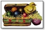 Easter chick and eggs in case 108