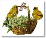 Easter chicks on basket 121