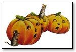 Halloween row of pumpkins with mouse 191