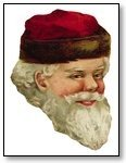 Christmas Santa face traditional white beard 262