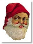 Christmas Santa face plain red hat 269