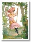 Girl in pink on swing 061