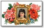 Girl in picture frame with flowers 067