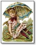 girl with umbrella on Cart 090