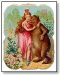 Bear with lady in pink 265