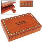 Domino Set w/ Inlaid Box 197x124x41 mm