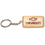 Rectangular Maple Keychain 55x28x6 mm