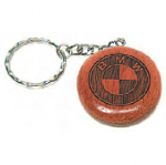 Round Rosewood Key Chain 38 x 6 mm