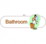 Bathroom female ID sign
