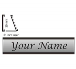 "Desk Sign Aluminium Length X 35 mm ( 1.4"" )"