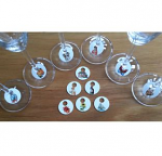 Wine glass charms set 12